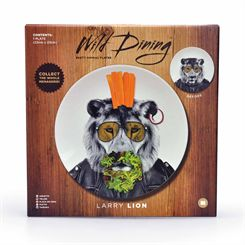 Mustard Wild Dining Lion Ceramic Dinner Plate