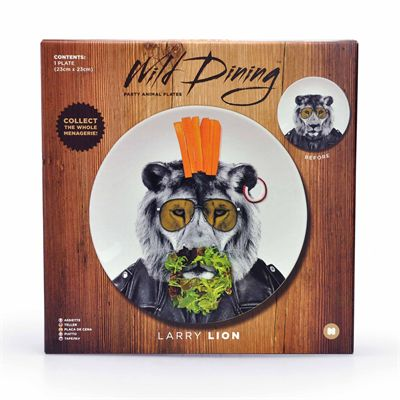 Mustard Wild Dining Lion Ceramic Dinner Plate