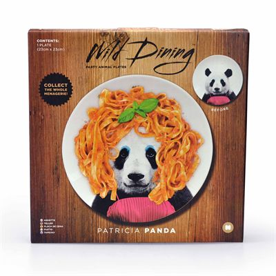 Mustard Wild Dining Panda Ceramic Dinner Plate - Image 1