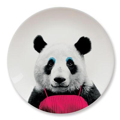 Mustard Wild Dining Panda Ceramic Dinner Plate - Image 2