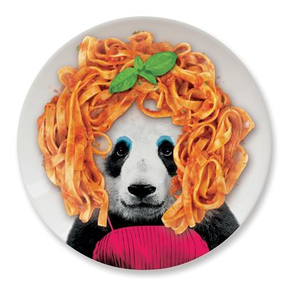 Mustard Wild Dining Panda Ceramic Dinner Plate - Image 3