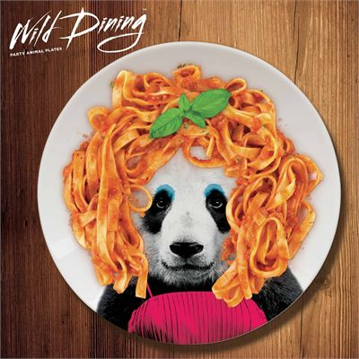 Mustard Wild Dining Panda Ceramic Dinner Plate