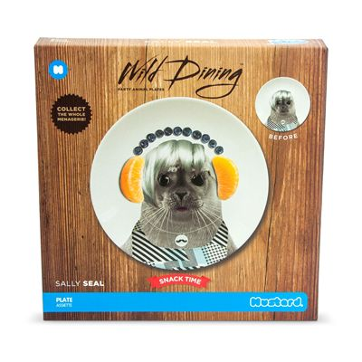 Mustard Wild Dining Seal Ceramic Small Size Dinner Plate - Image 1