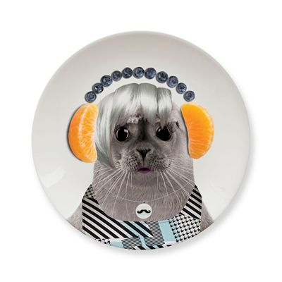 Mustard Wild Dining Seal Ceramic Small Size Dinner Plate - Image 3