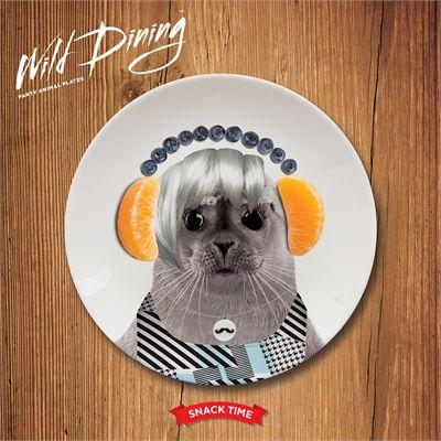 Mustard Wild Dining Seal Ceramic Small Size Dinner Plate