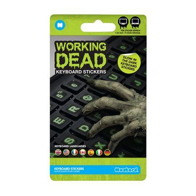 Mustard Working Dead Glow in The Dark Keyboard Stickers - Package