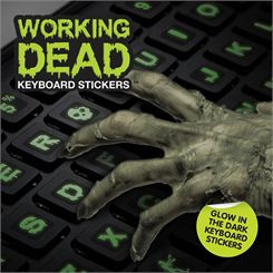 Mustard Working Dead Glow in The Dark Keyboard Stickers
