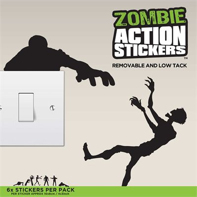 Mustard Zombie Action Stickers - Image 1