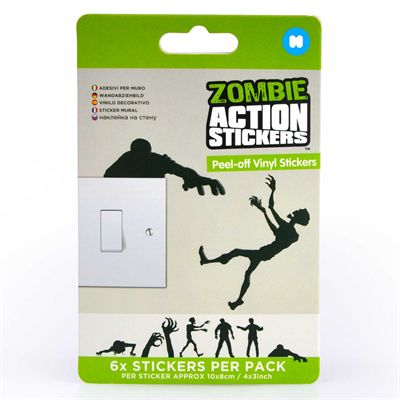 Mustard Zombie Action Stickers - Image 3