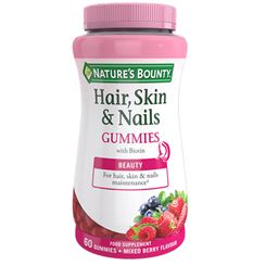 Natures Bounty Hair Skin and Nails Gummies - Pack of 60
