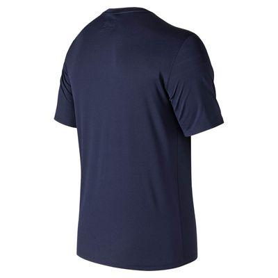 New Balance Court Crew Mens T-Shirt - Navy - Back