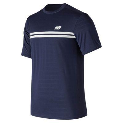 New Balance Court Crew Mens T-Shirt - Navy