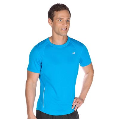 New Balance Tempo Mens Short Sleeve T-Shirt - In Use
