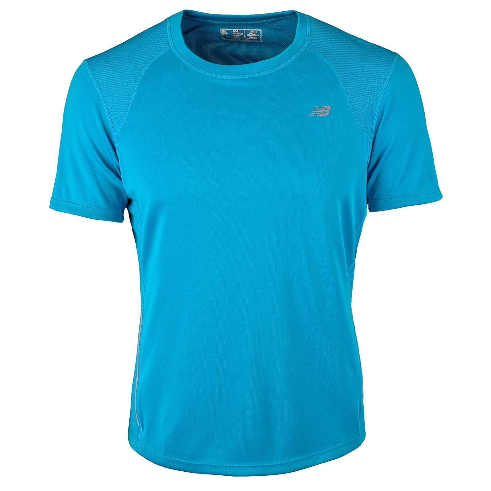 New balance tempo mens short sleeve t shirt for Short sleeve t shirts with longer sleeves