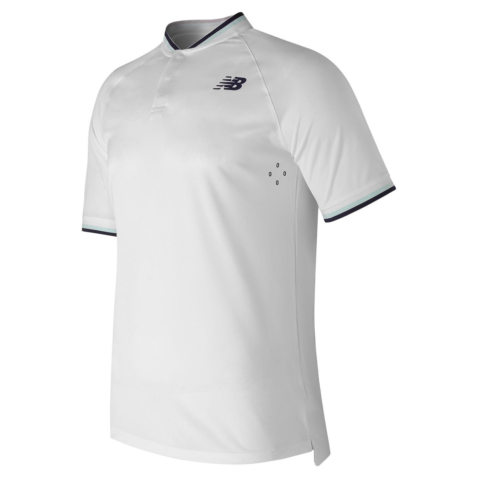 New Balance Tournament Henley Mens Polo Shirt  White L