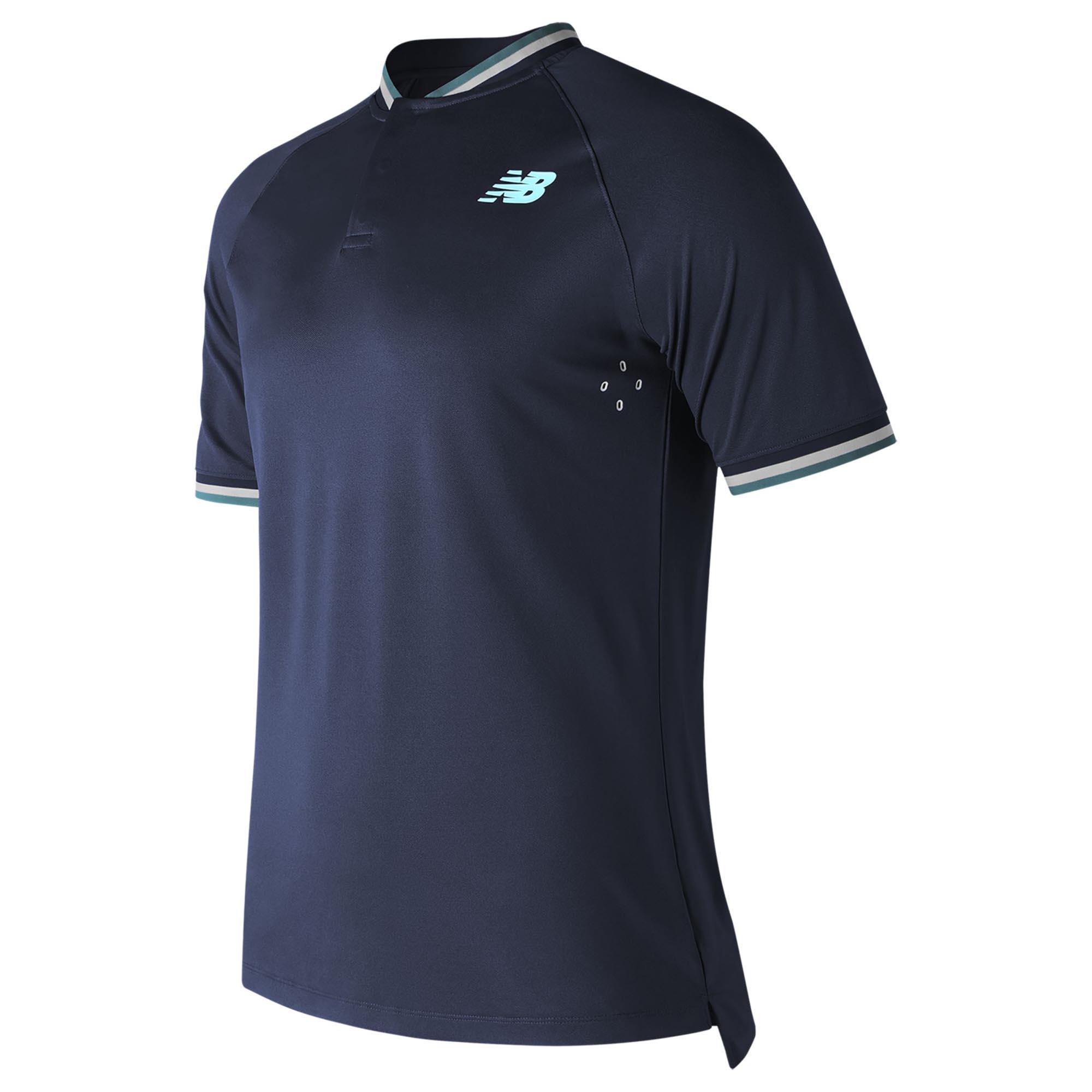 New Balance Tournament Henley Mens Polo Shirt  Navy L