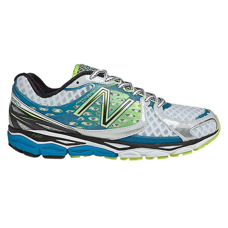 Womens New Balance 870v3 Running Shoe - White/Blue 8