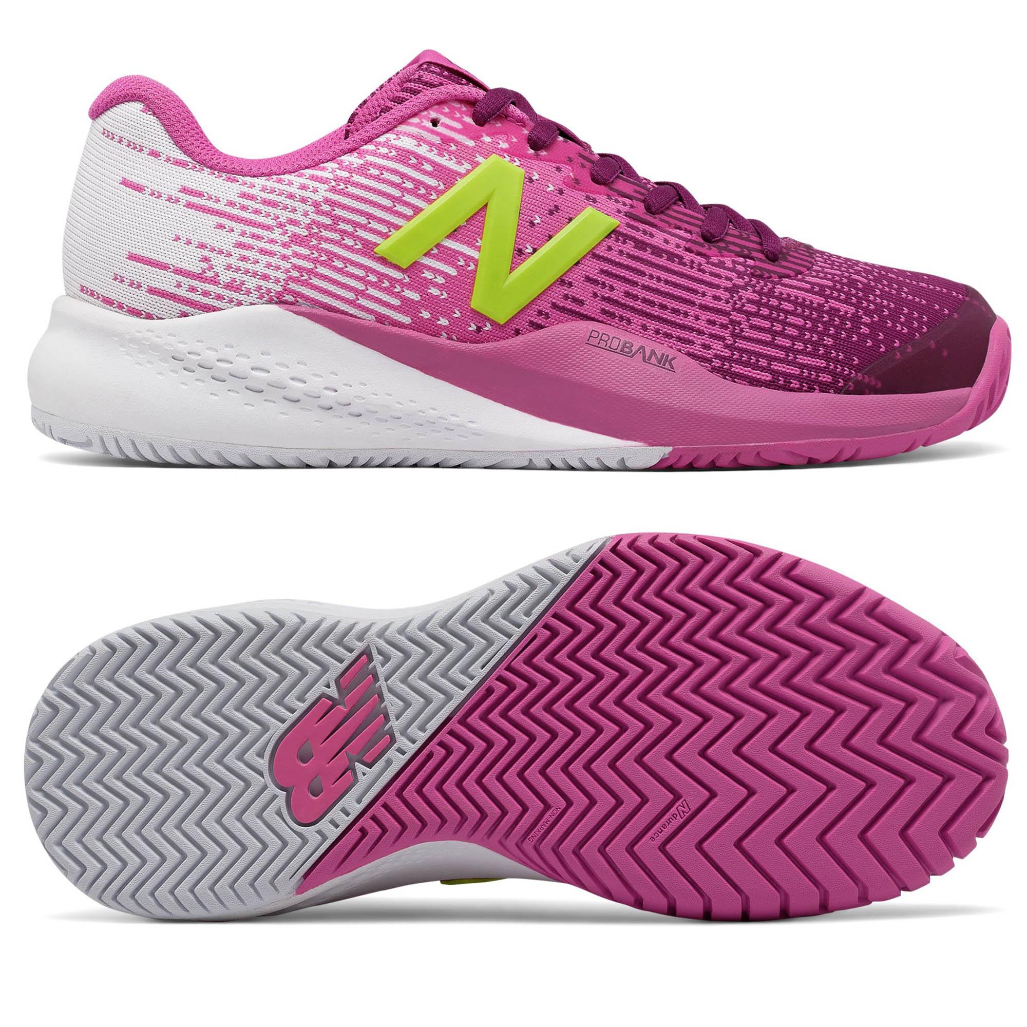 Image of New Balance WC996 v3 Ladies Tennis Shoes - Pink/White, 7 UK