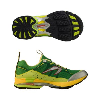 Newton Guidance Off Road Mens Running Shoe Green Yellow