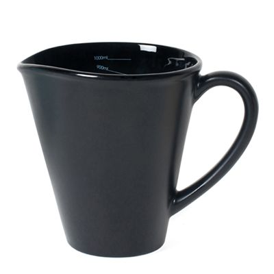 Nigella Lawson Ceramic Measuring Jug - 1 Litre - Black Image