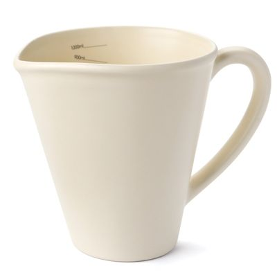 Nigella Lawson Ceramic Measuring Jug - 1 Litre - Cream
