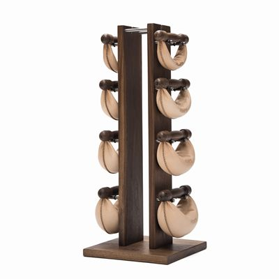 NOHrD by WaterRower Walnut Swing Tower Swing Bells Set