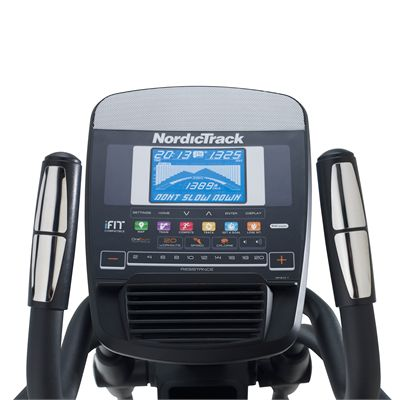 NordicTrack E9.5 Elliptical Cross Trainer 2014 Console Close View
