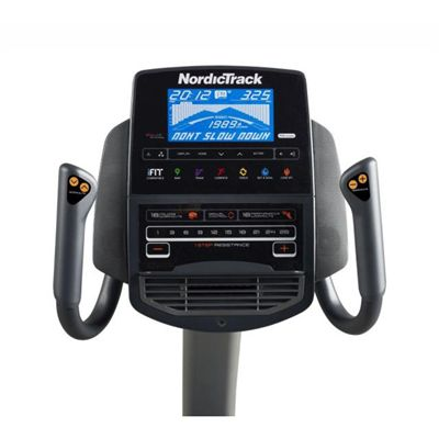 NordicTrack R110 Recumbent Bike Console View
