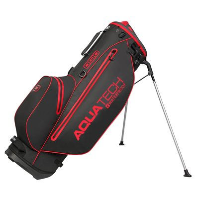 Ogio Aquatech Lite Golf Stand Bag Black-Red