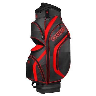 Ogio Press Golf Cart Bag - Black/Red