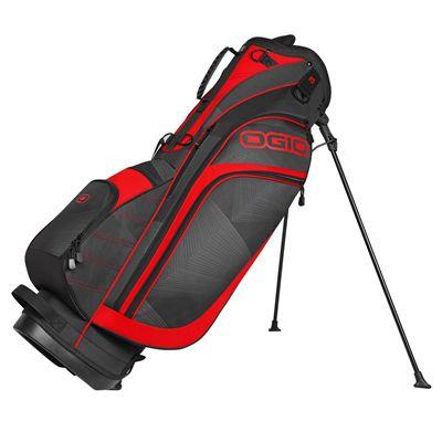 Ogio Press Golf Stand Bag - Black/Red