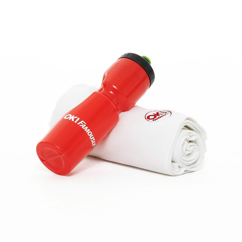 Sweat Towel Water Bottle: OK! Famouslyfit Towel And Bottle Set
