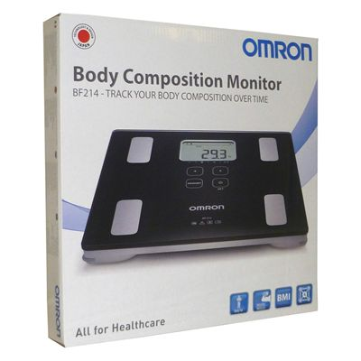Omron BF214 Body Composition Monitor-In-Box