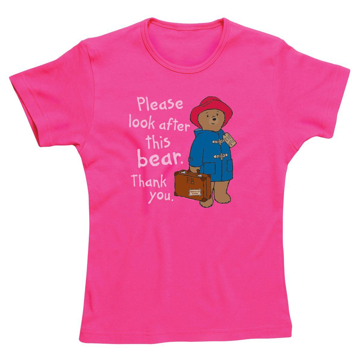 Paddington Bear Look After This Bear Skinny Fit T Shirt