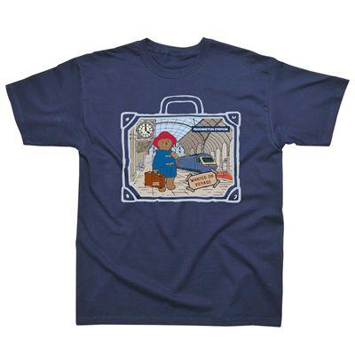 Paddington Bear Station Kids T-Shirt Image