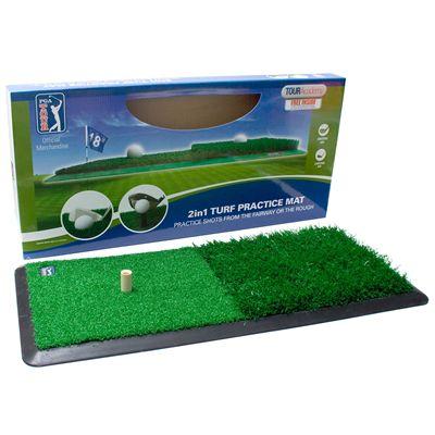 PGA Tour 2 in 1 Dual Turf Golf Practice Mat