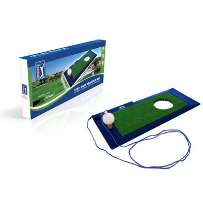PGA Tour 3 in 1 Golf Practice Mat with box view