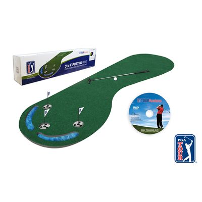 PGA Tour 3 Inch x 9 Inch Golf Putting Mat - Box and DVD