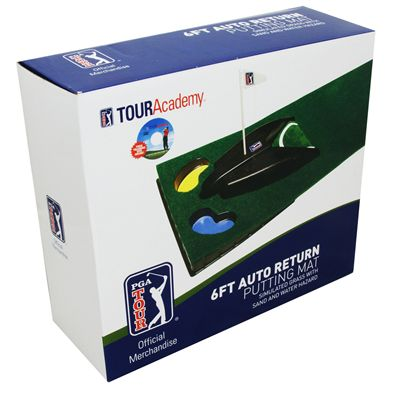 PGA Tour 6ft Automatic Ball Return Putting Mat - Box