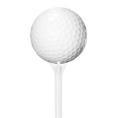 PGA Tour 70mm Low Friction Tees - Pack of 30 - Tee with ball