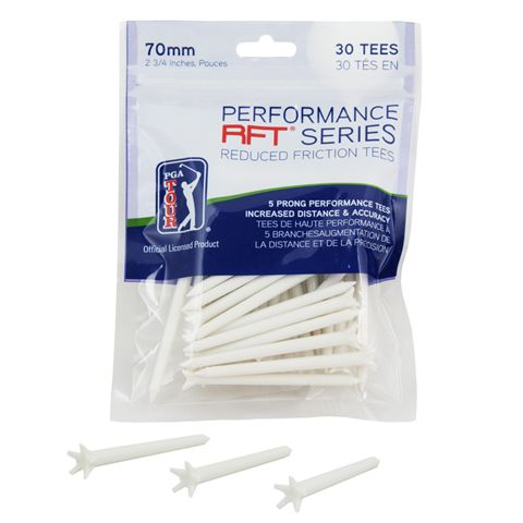 PGA Tour 70mm Low Friction Tees - Pack of 30