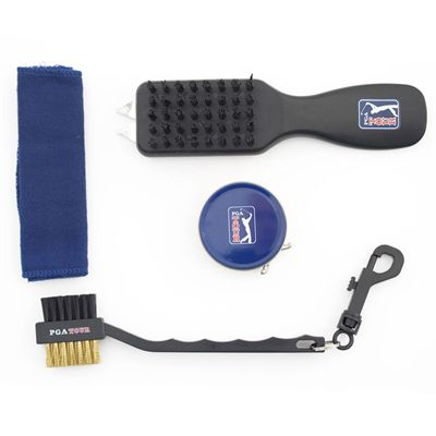 PGA Tour Shoe Bag and Cleaning Accessories Set - In Bag