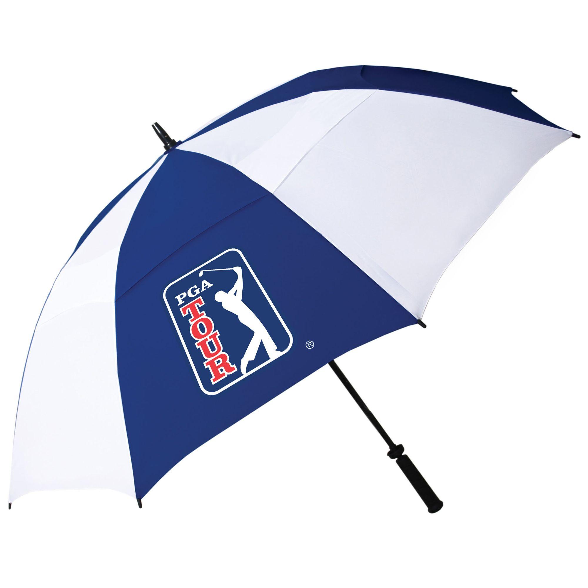 Pga tour windproof double canopy umbrella for Canopy umbrella