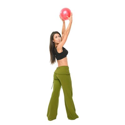 Pilates Mad Exer-Soft Ball 9in - In Use Image 2