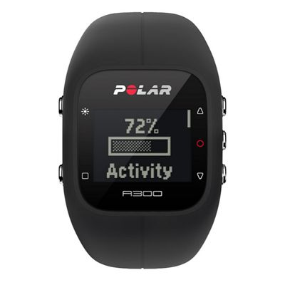 Polar A300 Fitness and Activity Monitor-Black-Front View
