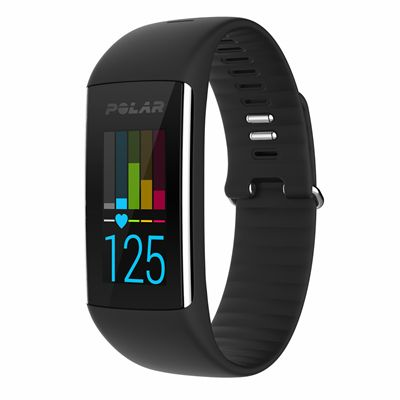 Polar A360 Fitness Tracker with Wrist Heart Rate-Black-Front View