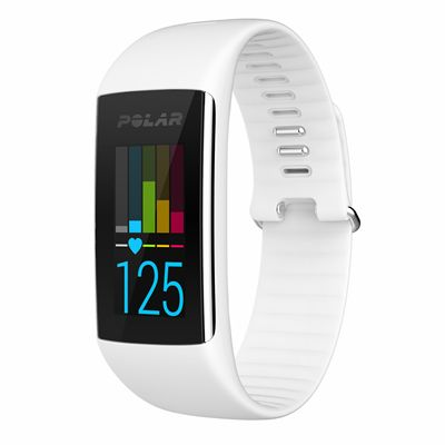 Polar A360 Fitness Tracker with Wrist Heart Rate-White-Front View