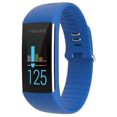 Polar A360 Medium Fitness Tracker with Wrist Heart Rate-Black - Blue