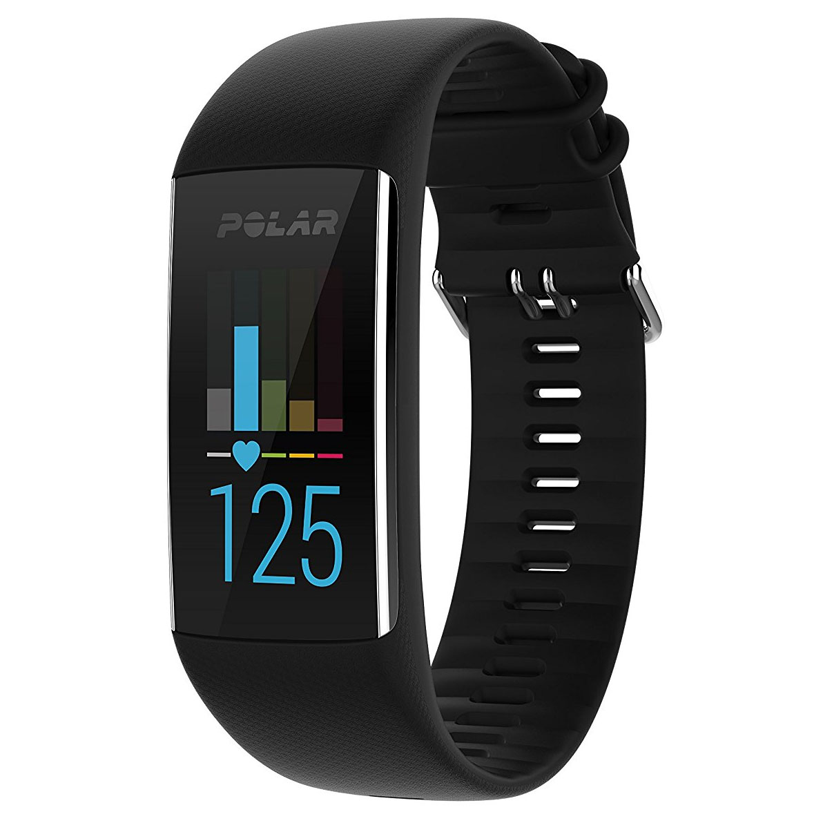 Polar A370 Fitness Tracker with Heart Rate – Black, M / L