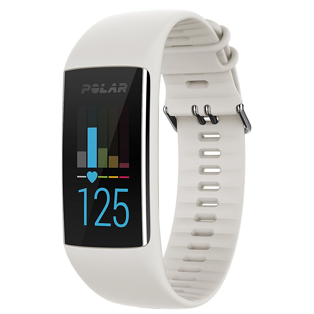 Polar A370 Fitness Tracker with Heart Rate – White, S